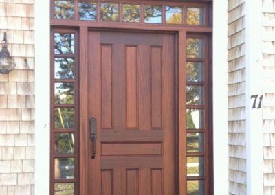 Entry Door Sapele Sidelites