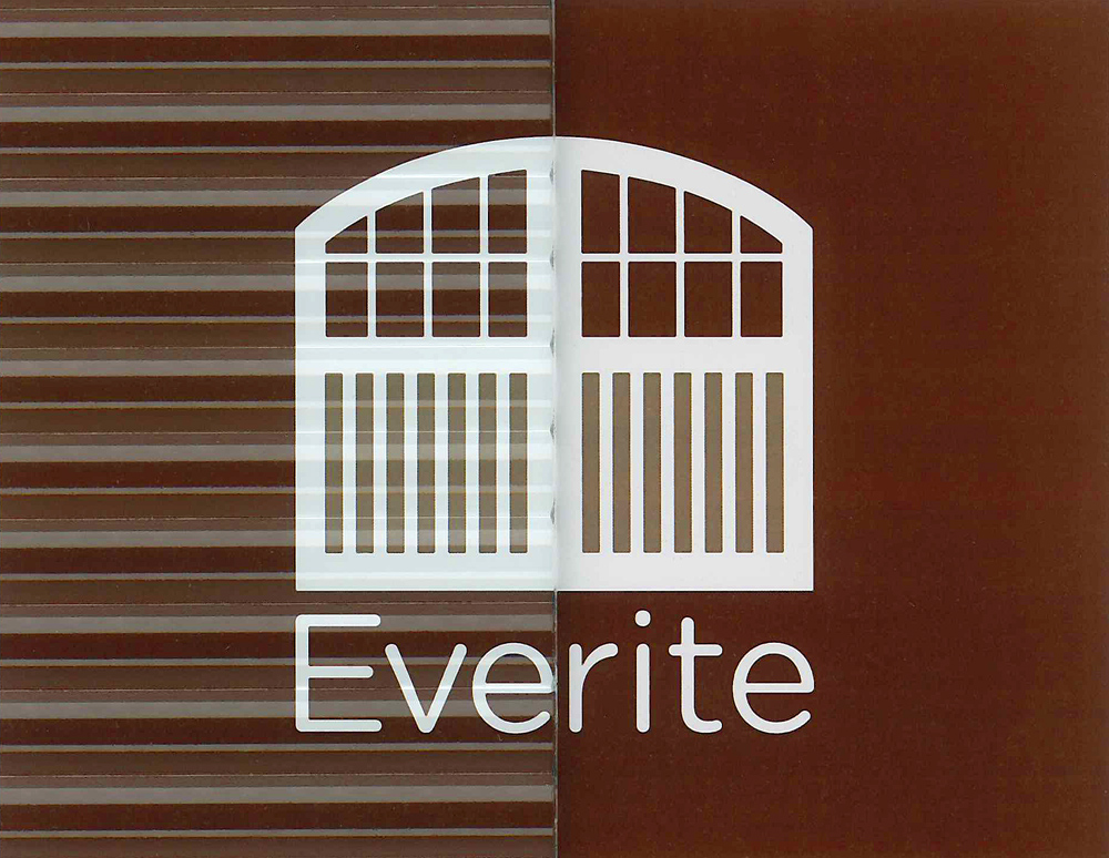 Everite Door - Crystal Fluted Glass