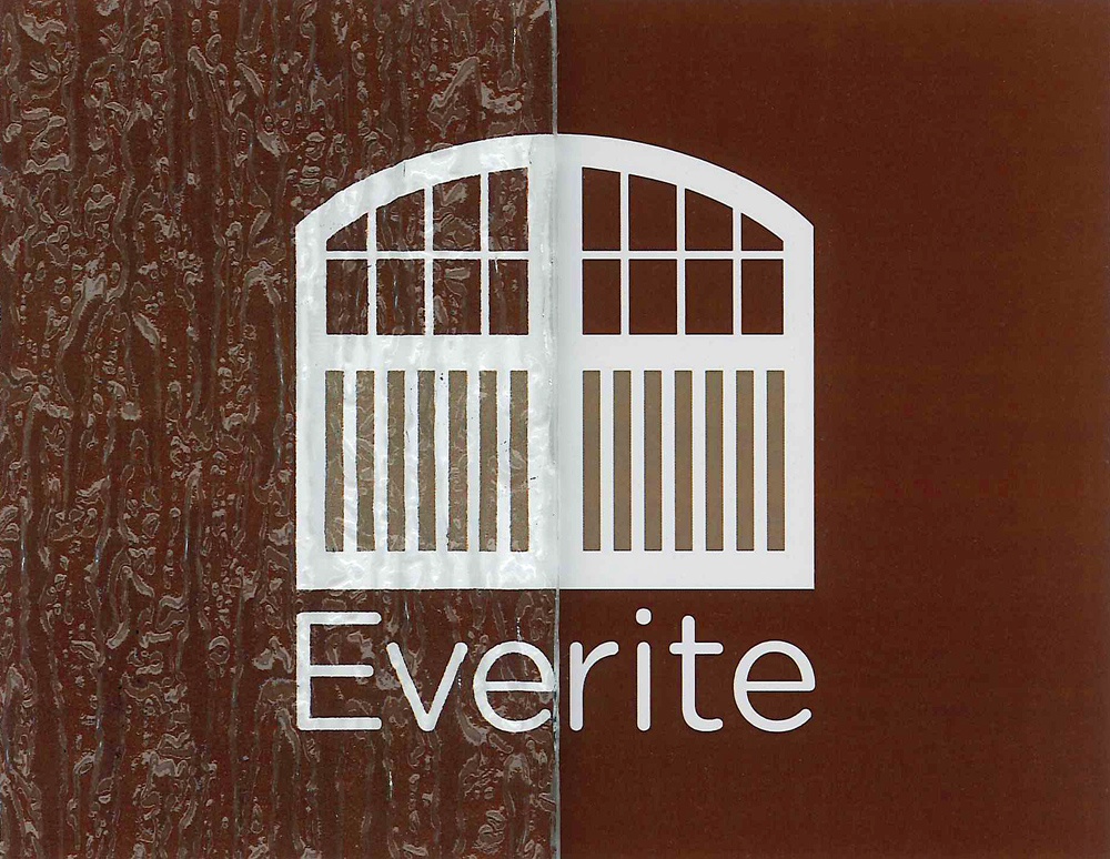 Everite Door - Rain Glass