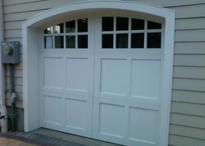Cape Cod Semi-Custom Series Mercer Model 100% Versatex PVC 4 over 4 Lite Arch Glass