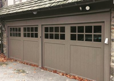 Charles River Custom Series Cambria Model V-Groove Panels Paint Grade Wood 4 over 4 Lite Square Glass