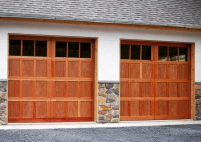 Allegheny River Semi-Custom Series Bradford Model Stain Grade Wood 3 Lite Square Glass