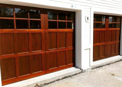 Allegheny River Semi-Custom Series Bradford Model Stain Grade Meranti Wood 3 over 3 Lite Square Glass