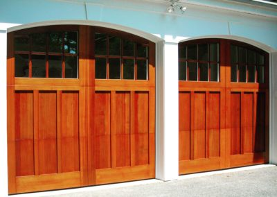 Charles River Custom Series Huntingdon Model Stain Grade Western Red Cedar Wood 4 over 4 Lite Arch Glass