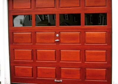 Fulton Raised Panel Traditional Model Stain Grade Meranti Wood 4 Lite Square Glass