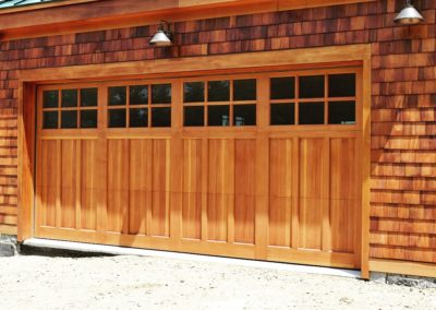 Charles River Custom Series Huntingdon Model Stain Grade Western Red Cedar Wood 3 over 3 Lite Square Glass