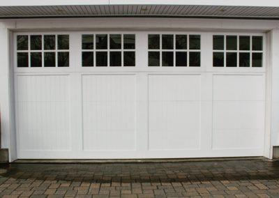 Charles River Custom Series Cambria Model Paint Grade Wood V-Groove Panels 4 over 4 Lite Square Glass