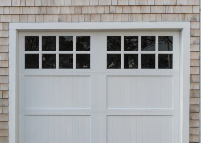 Cape Cod Semi-Custom Series Allegheny Model 100% Versatex PVC V-Groove Panels 4 over 4 Lite Square Glass