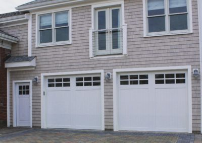 Cape Hatteras Custom Series Cambria Model 100% Versatex PVC V-Groove Panels 3 over 3 Lite Square Glass