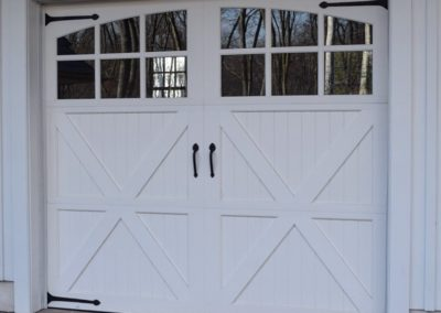 Cape Cod Semi-Custom Series Bucks Model 100% Versatex PVC 3 over 3 Lite Arch Glass Decorative Hardware